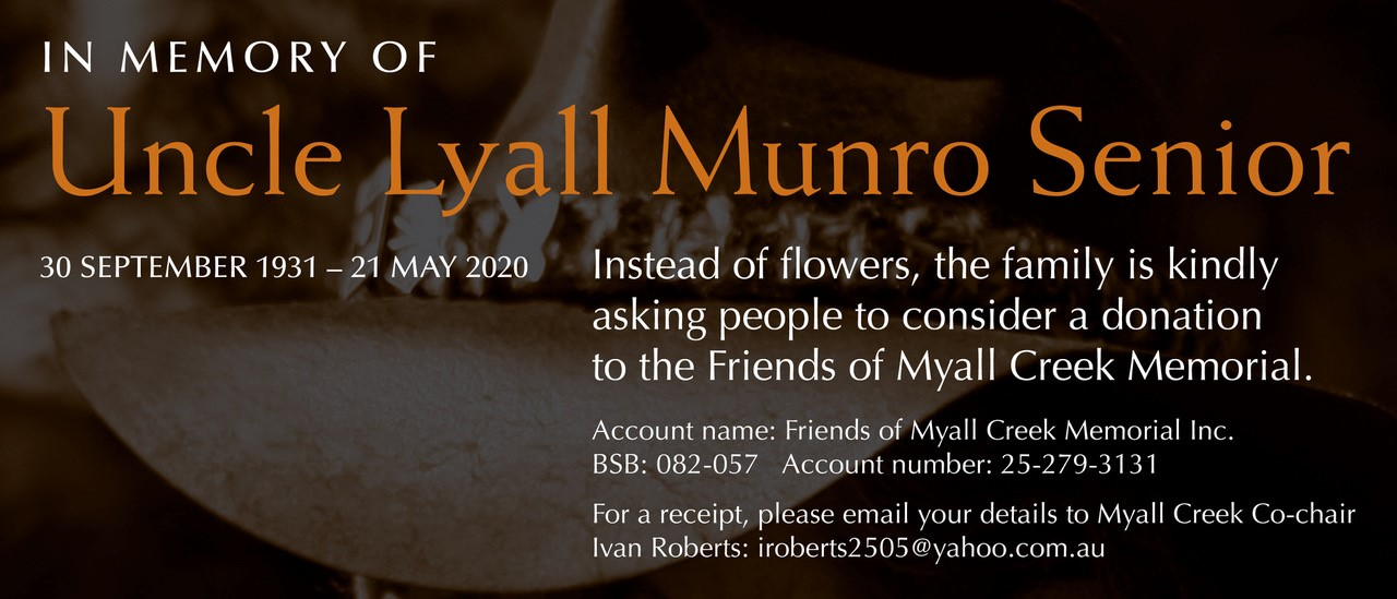 In Memory of Uncle Lyall Munro Snr